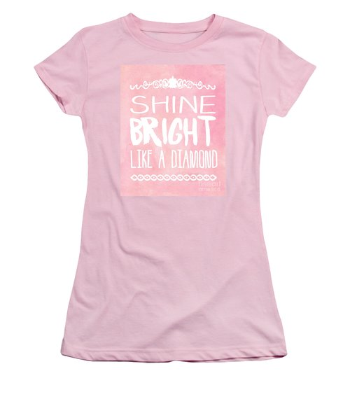 Shine Bright Women's T-Shirt (Junior Cut) by Pati Photography