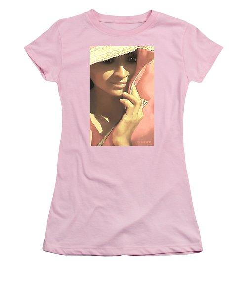 Shy Women's T-Shirt (Junior Cut) by Sophia Schmierer
