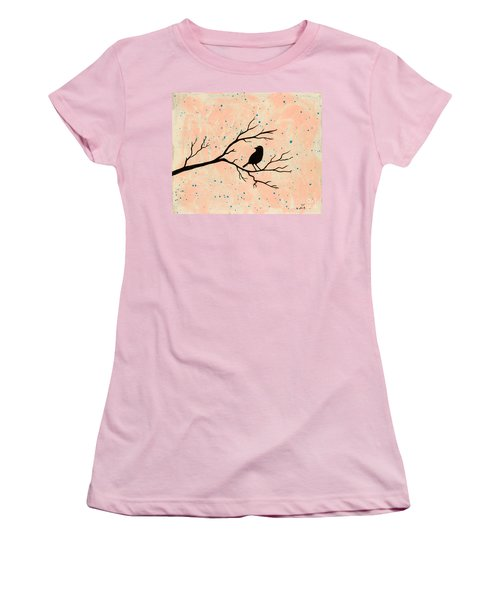Silhouette Pink Women's T-Shirt (Junior Cut)