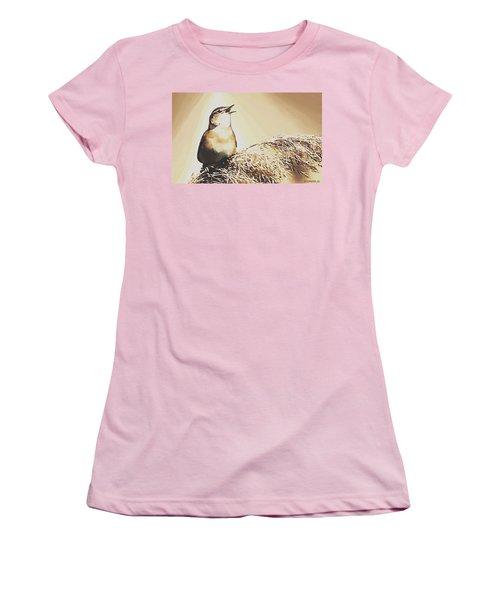 Singing My Heart Out Women's T-Shirt (Junior Cut) by Sophia Schmierer