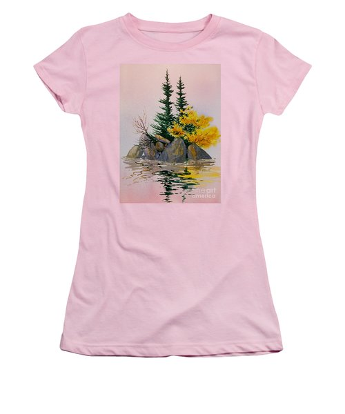 Women's T-Shirt (Junior Cut) featuring the painting Sitka Isle by Teresa Ascone