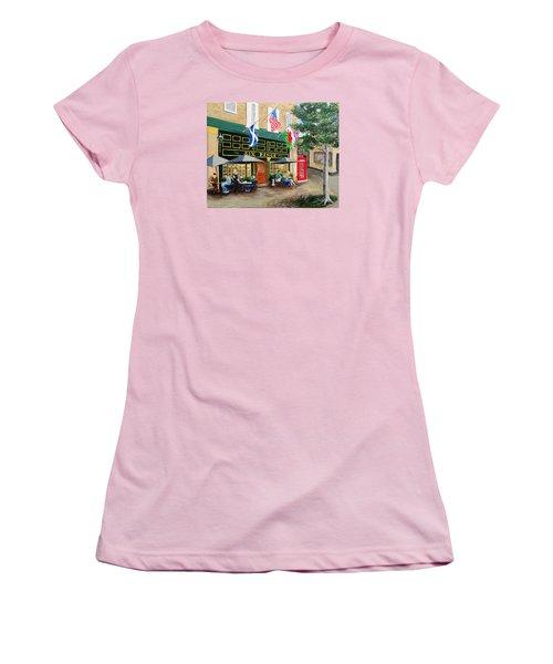 Six Pence Pub Women's T-Shirt (Junior Cut) by Marilyn Zalatan