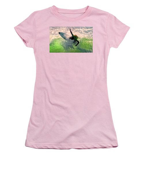 Women's T-Shirt (Junior Cut) featuring the painting Snap Turn by Michael Pickett