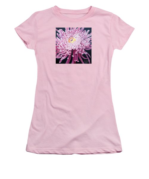 Women's T-Shirt (Junior Cut) featuring the painting Spider Mum by Debbie Hart