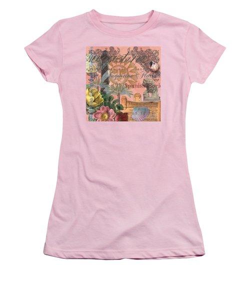 St. Augustine Florida Vintage Collage Women's T-Shirt (Athletic Fit)