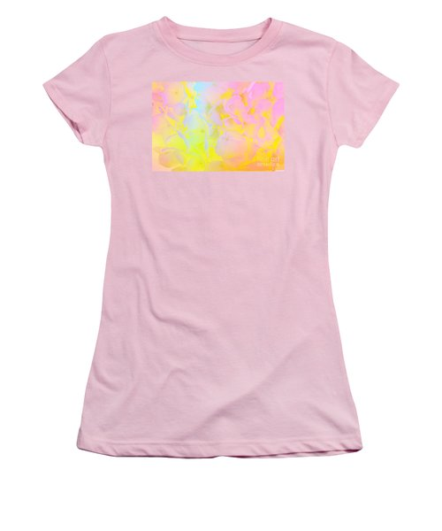 Women's T-Shirt (Junior Cut) featuring the photograph Summer Joy Abstract by Judy Palkimas