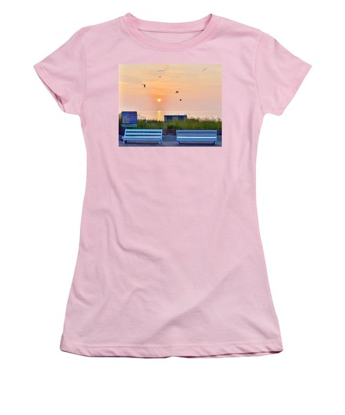 Sunrise At Rehoboth Beach Boardwalk Women's T-Shirt (Athletic Fit)