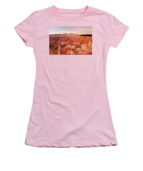 Sunrise At Sunset Point Bryce Canyon National Park Women's T-Shirt (Athletic Fit)