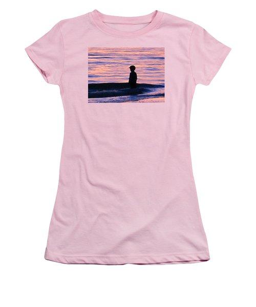 Sunset Art - Contemplation Women's T-Shirt (Athletic Fit)