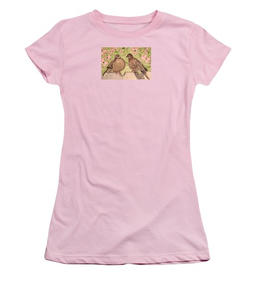 The Courtship Women's T-Shirt (Junior Cut) by Angela Davies