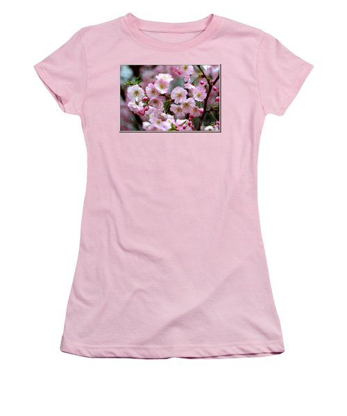 The Delicate Cherry Blossoms Women's T-Shirt (Athletic Fit)