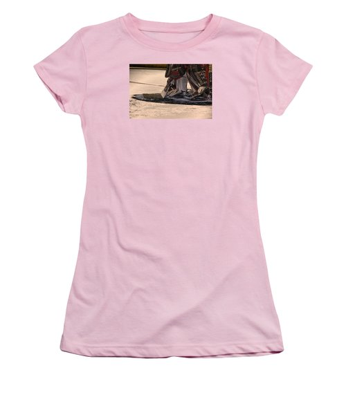 The Goalies Crease Women's T-Shirt (Athletic Fit)
