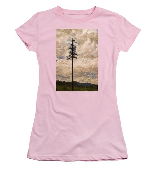 The Lone Survivor Stands In Tranquility Women's T-Shirt (Junior Cut) by Peggy Collins