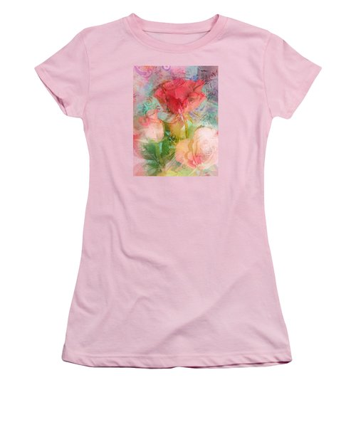 The Romance Of Roses Women's T-Shirt (Junior Cut) by Carla Parris