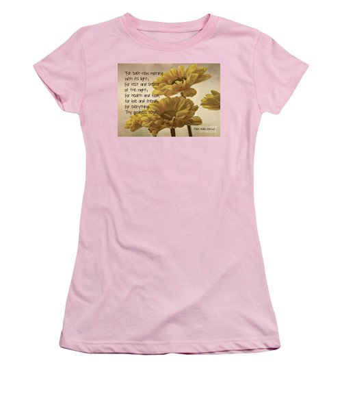 Thoughts Of Gratitude Women's T-Shirt (Athletic Fit)