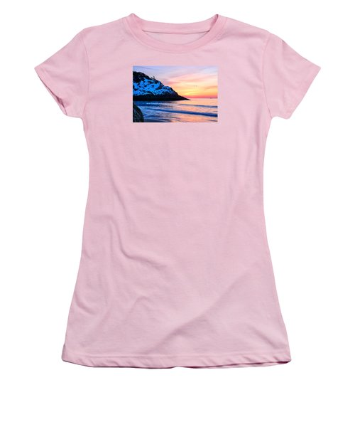 Touch Of Snow Singing Beach Women's T-Shirt (Junior Cut) by Michael Hubley