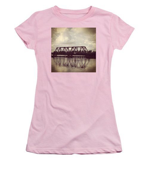 Trestle On The Pamlico River Women's T-Shirt (Athletic Fit)