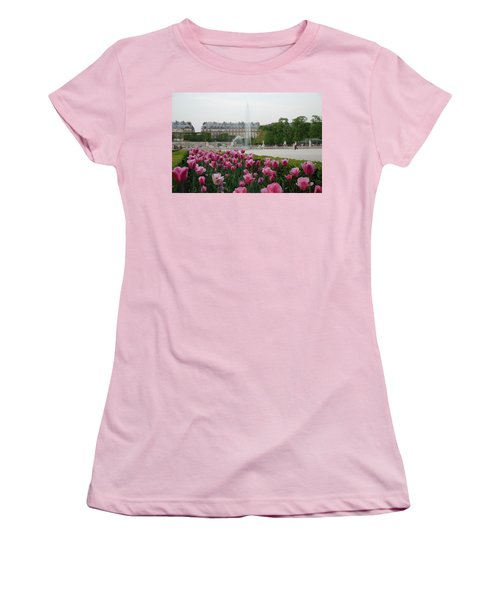 Tuileries Garden In Bloom Women's T-Shirt (Athletic Fit)