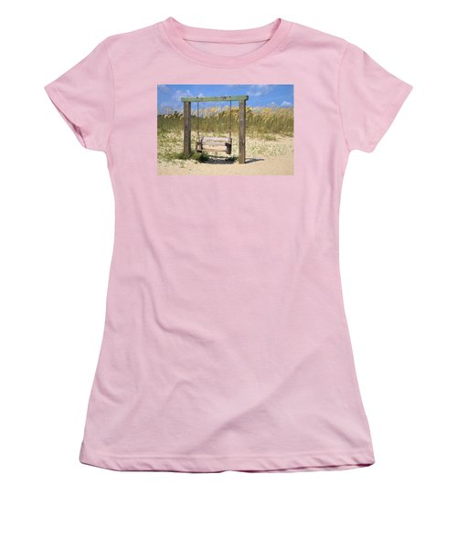 Tybee Island Swing Women's T-Shirt (Athletic Fit)