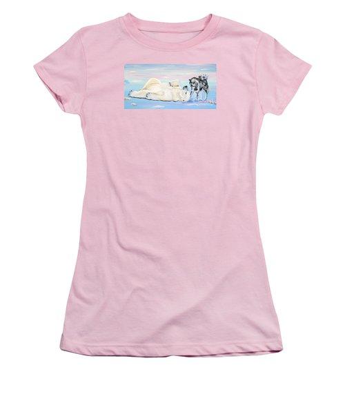 Unusual Buddies  Must Open Women's T-Shirt (Junior Cut) by Phyllis Kaltenbach