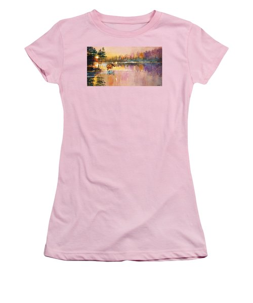 Vigil In The Shallows At Sunrise Women's T-Shirt (Athletic Fit)