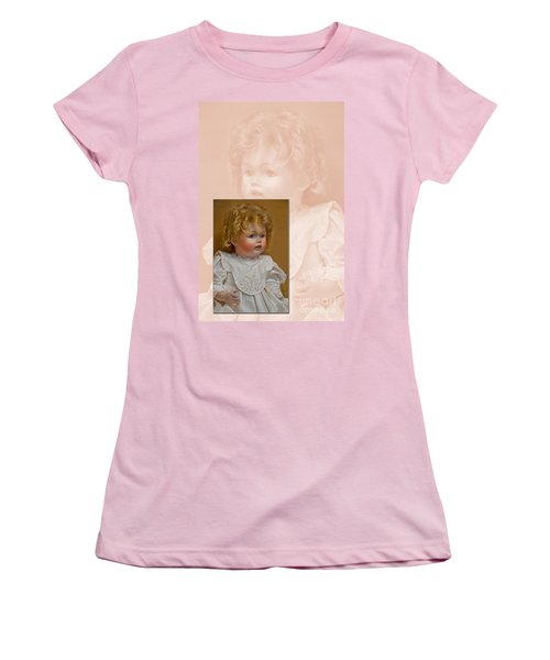 Vintage Doll Beauty Art Prints Women's T-Shirt (Junior Cut) by Valerie Garner