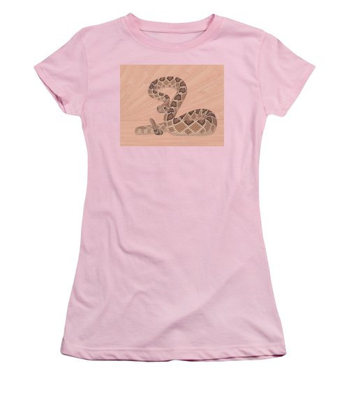 Western Diamondback Rattlesnake Women's T-Shirt (Junior Cut) by Nathan Marcy