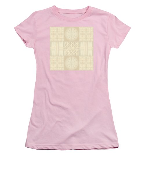 Wicker Quilt Women's T-Shirt (Junior Cut) by Kevin McLaughlin