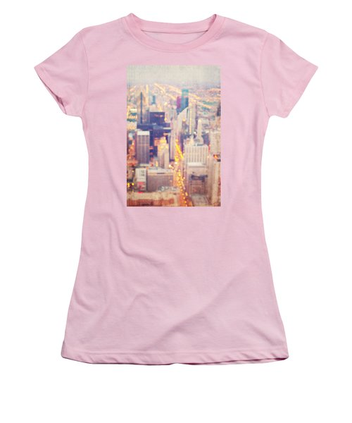Windy City Lights - Chicago Women's T-Shirt (Athletic Fit)