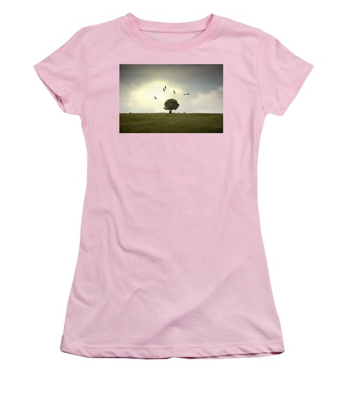 Wings Over The Tree Women's T-Shirt (Athletic Fit)