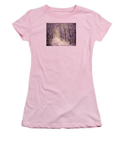 Winter Magic Women's T-Shirt (Junior Cut) by Natalie Holland