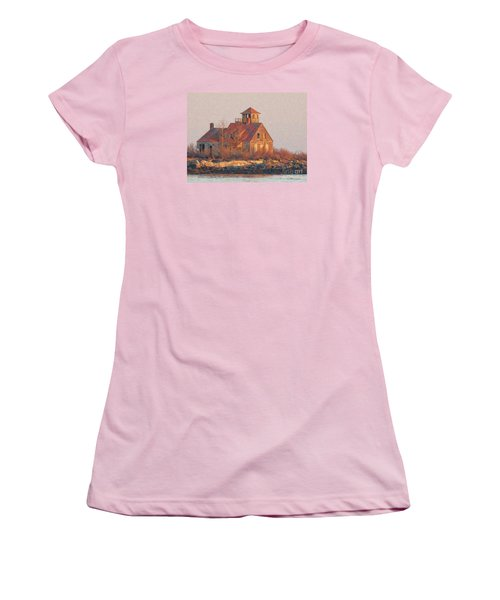 Wood Island Women's T-Shirt (Athletic Fit)