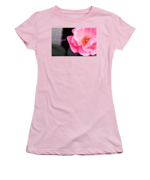 You Are Beautiful Women's T-Shirt (Junior Cut) by Andrea Anderegg