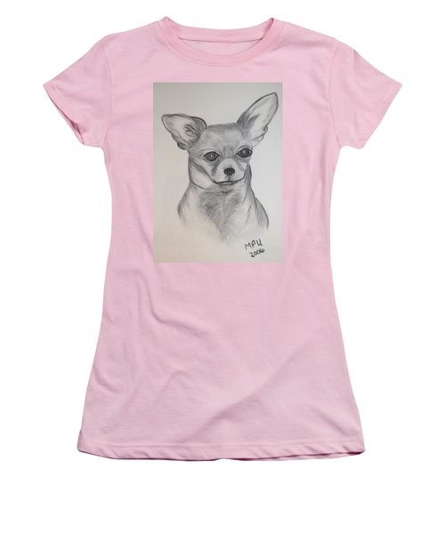 Women's T-Shirt (Junior Cut) featuring the drawing Chi Chi by Maria Urso