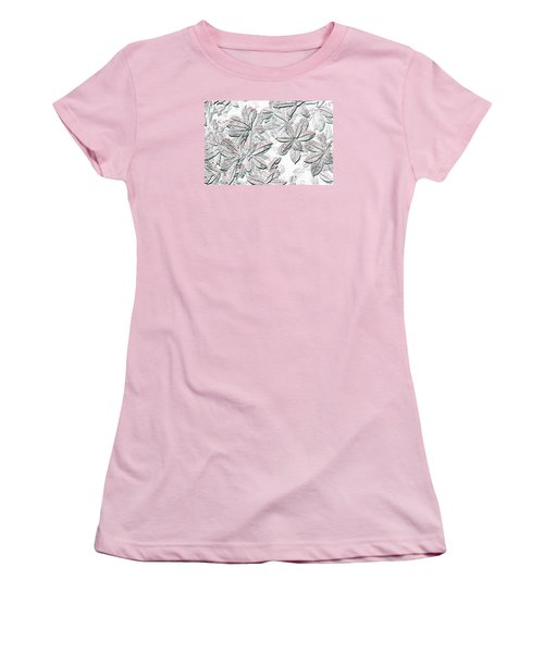 Embossed Crotons Women's T-Shirt (Athletic Fit)