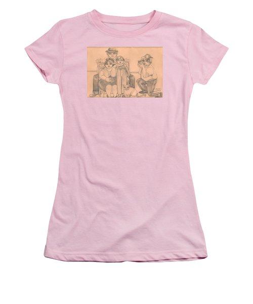 Family Photo Women's T-Shirt (Junior Cut) by Rachel Hershkovitz