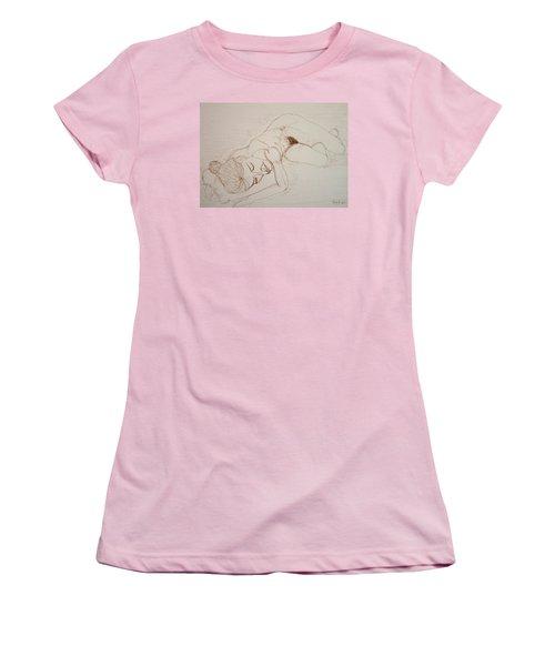 Female Nude Lying Women's T-Shirt (Junior Cut) by Rand Swift