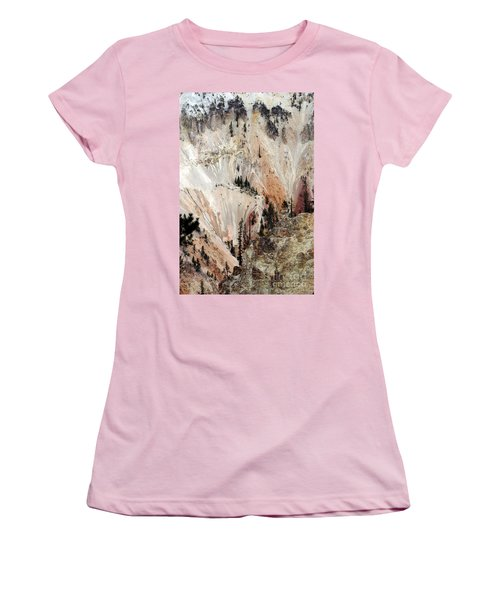 Grand Canyon Of Yellowstone Vertical Women's T-Shirt (Junior Cut) by Living Color Photography Lorraine Lynch