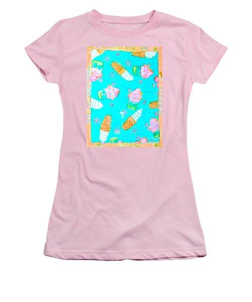 Ice Cream I Scream Women's T-Shirt (Athletic Fit)