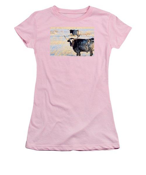 Women's T-Shirt (Junior Cut) featuring the photograph Open Range by Jim Garrison