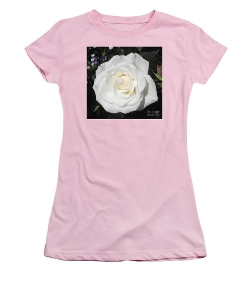 Pure White Rose Women's T-Shirt (Athletic Fit)