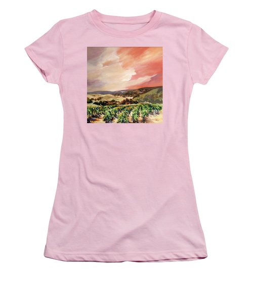Rolling Vineyards 2 Women's T-Shirt (Junior Cut) by Rae Andrews