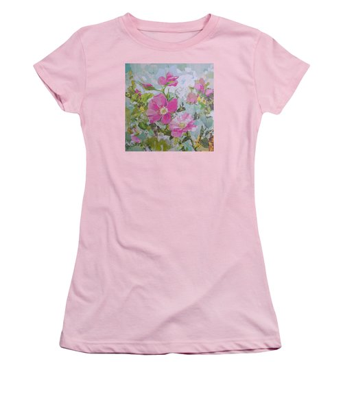 Shrub Roses Women's T-Shirt (Junior Cut) by Robin Birrell