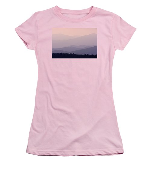 Smoky Mountain Sunset Women's T-Shirt (Athletic Fit)