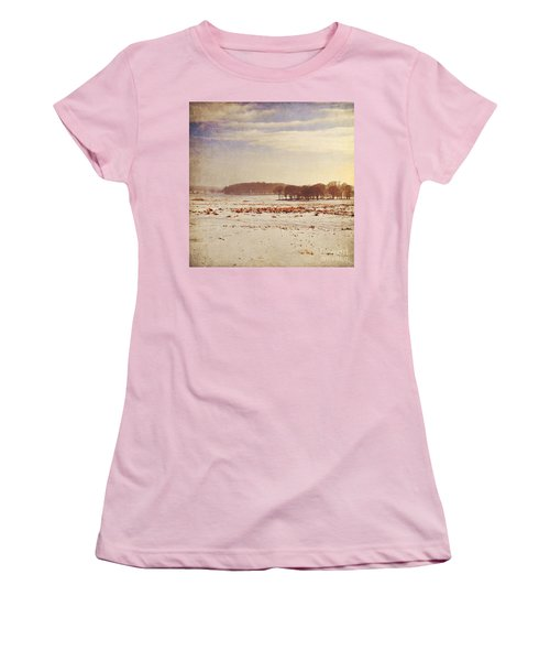 Snowy Landscape Women's T-Shirt (Junior Cut) by Lyn Randle