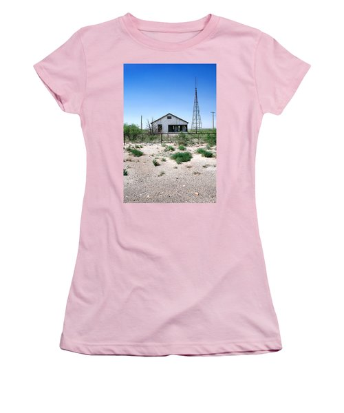 Women's T-Shirt (Junior Cut) featuring the photograph Somewhere On The Old Pecos Highway Number 5 by Lon Casler Bixby