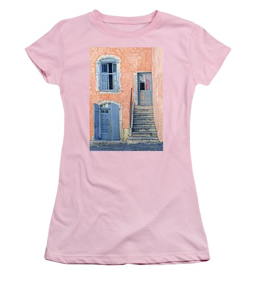 Women's T-Shirt (Junior Cut) featuring the photograph Window And Doors Provence France by Dave Mills