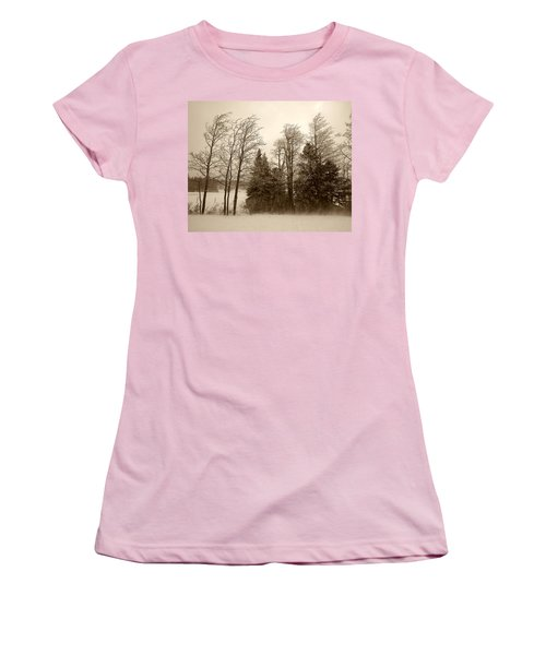 Women's T-Shirt (Junior Cut) featuring the photograph Winter Treeline by Hugh Smith