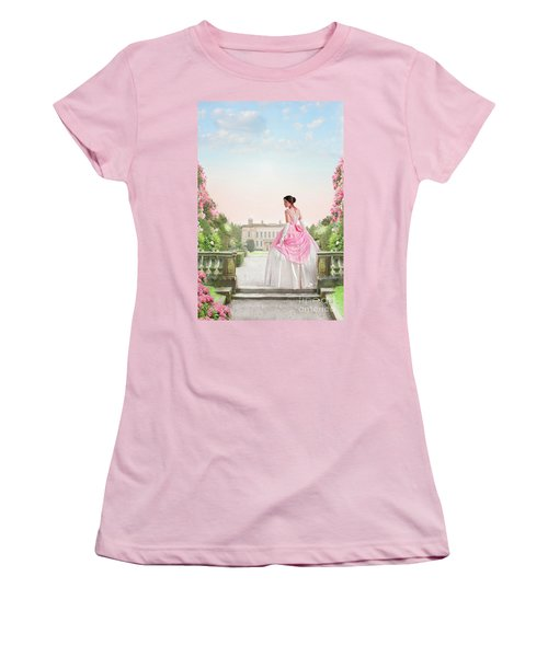 Beautiful Victorian Woman In The Garden Women's T-Shirt (Athletic Fit)