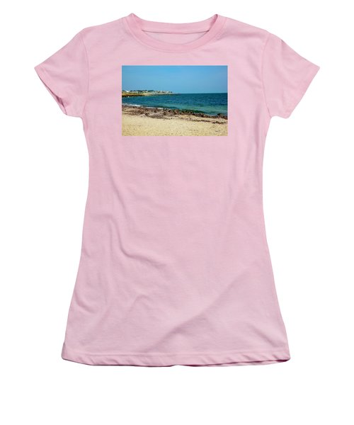 Women's T-Shirt (Junior Cut) featuring the photograph Birds On The Beach by Madeline Ellis